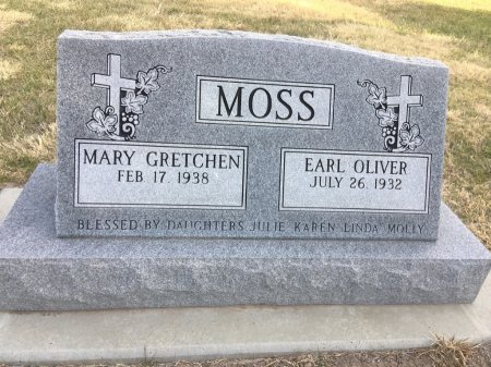MOSS, EARL OLIVER - Dawes County, Nebraska | EARL OLIVER MOSS - Nebraska Gravestone Photos