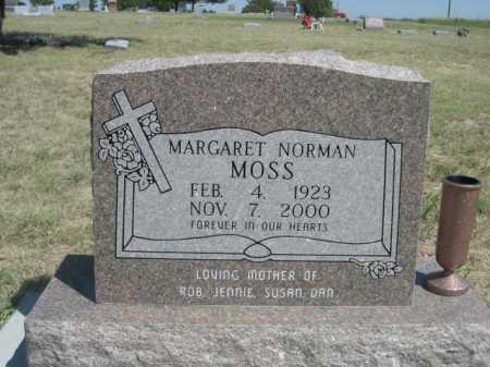 MOSS, MARGARET NORMAN - Dawes County, Nebraska | MARGARET NORMAN MOSS - Nebraska Gravestone Photos