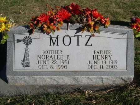 MOTZ, NORALEE P. - Dawes County, Nebraska | NORALEE P. MOTZ - Nebraska Gravestone Photos