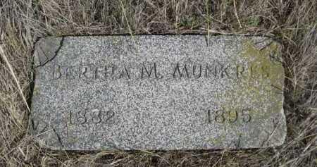 MUNKRES, BERTHA M. - Dawes County, Nebraska   BERTHA M. MUNKRES - Nebraska Gravestone Photos