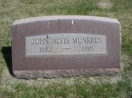 MUNKRES, JOHN ALVIS - Dawes County, Nebraska   JOHN ALVIS MUNKRES - Nebraska Gravestone Photos
