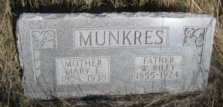 MUNKRES, W. RILEY - Dawes County, Nebraska | W. RILEY MUNKRES - Nebraska Gravestone Photos