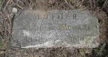 MUNKRES, SARAH E. - Dawes County, Nebraska | SARAH E. MUNKRES - Nebraska Gravestone Photos