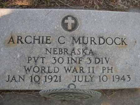 MURDOCK, ARCHIE C. - Dawes County, Nebraska   ARCHIE C. MURDOCK - Nebraska Gravestone Photos