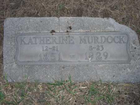 MURDOCK, KATHERINE - Dawes County, Nebraska   KATHERINE MURDOCK - Nebraska Gravestone Photos