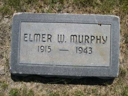MURPHY, ELMER W. - Dawes County, Nebraska   ELMER W. MURPHY - Nebraska Gravestone Photos