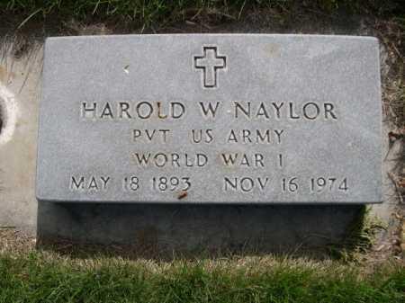NAYLOR, HAROLD W. - Dawes County, Nebraska | HAROLD W. NAYLOR - Nebraska Gravestone Photos