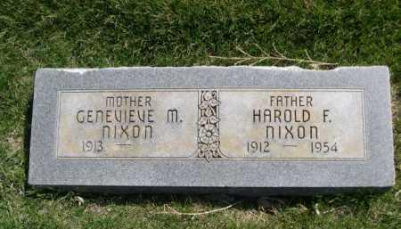 NIXON, HAROLD F. - Dawes County, Nebraska | HAROLD F. NIXON - Nebraska Gravestone Photos