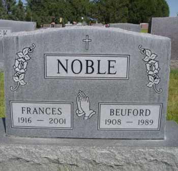 NOBLE, FRANCES - Dawes County, Nebraska | FRANCES NOBLE - Nebraska Gravestone Photos