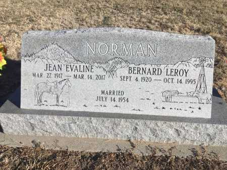 NORMAN, JEAN EVALINE - Dawes County, Nebraska   JEAN EVALINE NORMAN - Nebraska Gravestone Photos