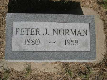 NORMAN, PETER J. - Dawes County, Nebraska | PETER J. NORMAN - Nebraska Gravestone Photos