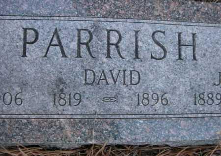 PARRISH, DAVID - Dawes County, Nebraska | DAVID PARRISH - Nebraska Gravestone Photos