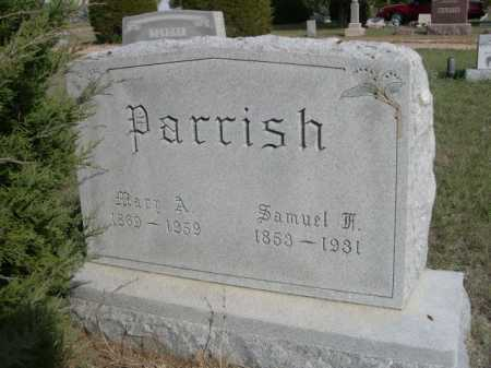 PARRISH, MARY A. - Dawes County, Nebraska | MARY A. PARRISH - Nebraska Gravestone Photos