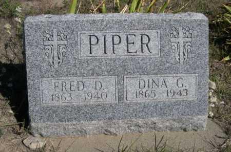 PIPER, DINA G. - Dawes County, Nebraska | DINA G. PIPER - Nebraska Gravestone Photos