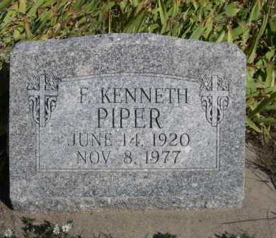 PIPER, F. KENNETH - Dawes County, Nebraska | F. KENNETH PIPER - Nebraska Gravestone Photos