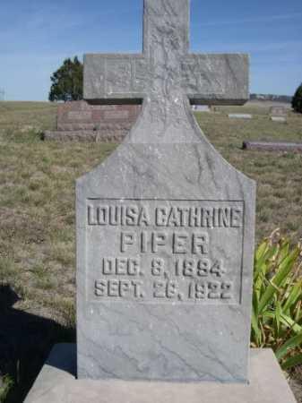 PIPER, LOUISA CATHRINE - Dawes County, Nebraska | LOUISA CATHRINE PIPER - Nebraska Gravestone Photos