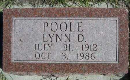 POOLE, LYNN D. - Dawes County, Nebraska | LYNN D. POOLE - Nebraska Gravestone Photos