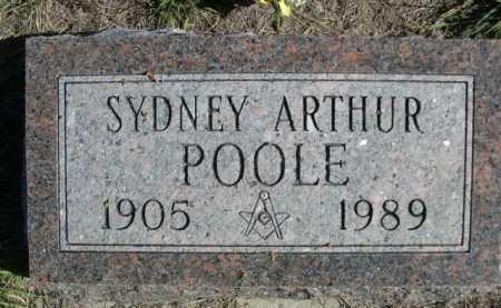 POOLE, SYDNEY ARTHUR - Dawes County, Nebraska | SYDNEY ARTHUR POOLE - Nebraska Gravestone Photos
