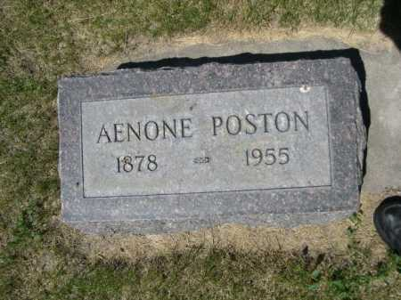 POSTON, AENONE - Dawes County, Nebraska | AENONE POSTON - Nebraska Gravestone Photos