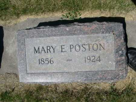 POSTON, MARY E. - Dawes County, Nebraska   MARY E. POSTON - Nebraska Gravestone Photos