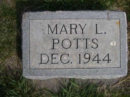 POTTS, MARY L. - Dawes County, Nebraska   MARY L. POTTS - Nebraska Gravestone Photos