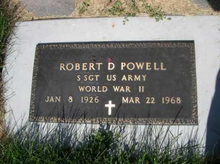 POWELL, ROBERT D. - Dawes County, Nebraska | ROBERT D. POWELL - Nebraska Gravestone Photos