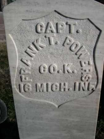 POWERS, FRANK T. - Dawes County, Nebraska | FRANK T. POWERS - Nebraska Gravestone Photos