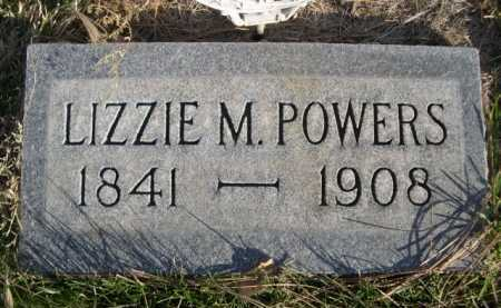 POWERS, LIZZIE M. - Dawes County, Nebraska | LIZZIE M. POWERS - Nebraska Gravestone Photos