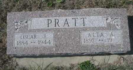 PRATT, OSCAR J. - Dawes County, Nebraska | OSCAR J. PRATT - Nebraska Gravestone Photos