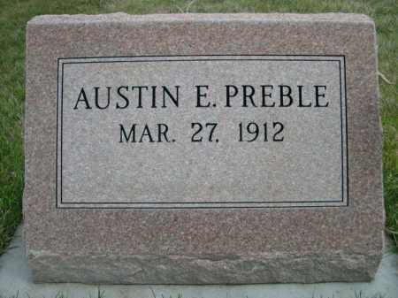 PREBLE, AUSTIN E. - Dawes County, Nebraska | AUSTIN E. PREBLE - Nebraska Gravestone Photos