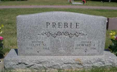PREBLE, HOWARD A. - Dawes County, Nebraska   HOWARD A. PREBLE - Nebraska Gravestone Photos