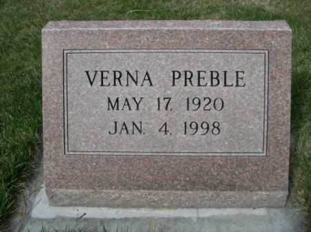 PREBLE, VERNA - Dawes County, Nebraska | VERNA PREBLE - Nebraska Gravestone Photos