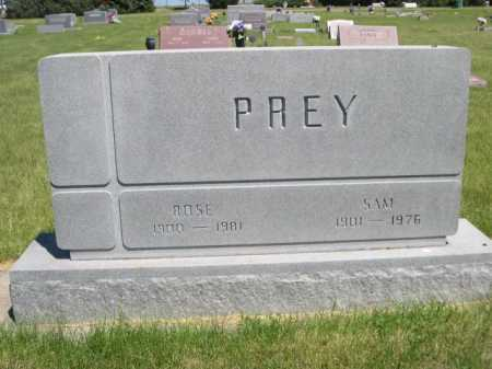 PREY, SAM - Dawes County, Nebraska | SAM PREY - Nebraska Gravestone Photos
