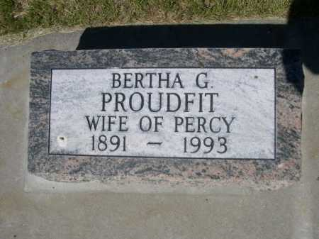 PROUDFIT, BERTHA G - Dawes County, Nebraska   BERTHA G PROUDFIT - Nebraska Gravestone Photos