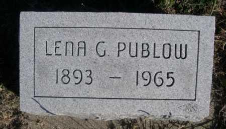 PUBLOW, LENNA G. - Dawes County, Nebraska | LENNA G. PUBLOW - Nebraska Gravestone Photos