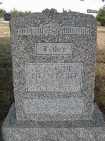QUINTARD, C. CLAUD - Dawes County, Nebraska | C. CLAUD QUINTARD - Nebraska Gravestone Photos