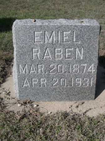 RABEN, EMIEL - Dawes County, Nebraska   EMIEL RABEN - Nebraska Gravestone Photos