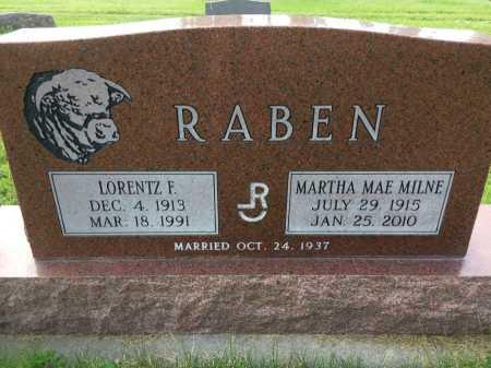 RABEN, MARTHA MAE MILNE - Dawes County, Nebraska | MARTHA MAE MILNE RABEN - Nebraska Gravestone Photos