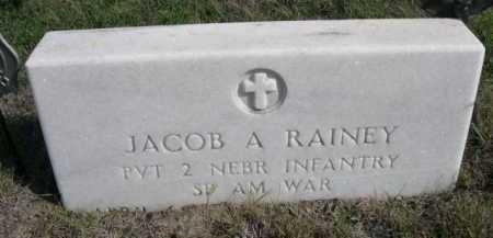 RAINEY, JACOB A. - Dawes County, Nebraska   JACOB A. RAINEY - Nebraska Gravestone Photos