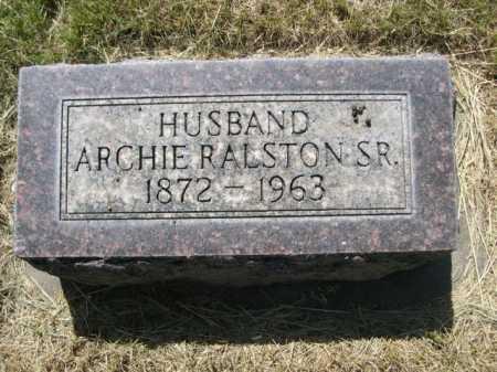 RALSTON, ARCHIE SR. - Dawes County, Nebraska   ARCHIE SR. RALSTON - Nebraska Gravestone Photos