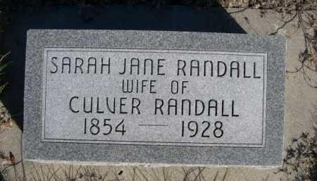 RANDALL, SARAH JANE - Dawes County, Nebraska | SARAH JANE RANDALL - Nebraska Gravestone Photos