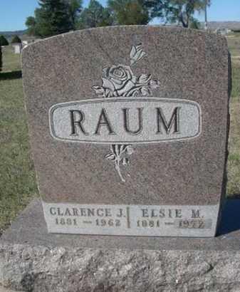 RAUM, CLARENCE J. - Dawes County, Nebraska | CLARENCE J. RAUM - Nebraska Gravestone Photos