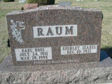 RAUM, EARL ROSS - Dawes County, Nebraska   EARL ROSS RAUM - Nebraska Gravestone Photos