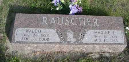 RAUSCHER, MAXINE L. - Dawes County, Nebraska   MAXINE L. RAUSCHER - Nebraska Gravestone Photos