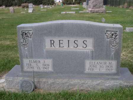 REISS, ELMER J. - Dawes County, Nebraska | ELMER J. REISS - Nebraska Gravestone Photos