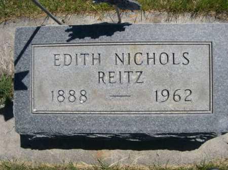 REITZ, EDITH - Dawes County, Nebraska   EDITH REITZ - Nebraska Gravestone Photos