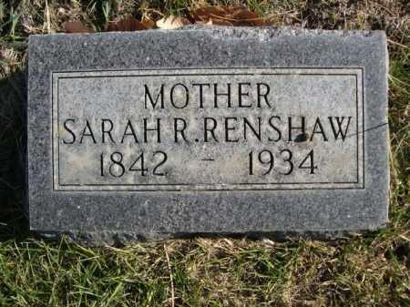 RENSHAW, SARAH R. - Dawes County, Nebraska   SARAH R. RENSHAW - Nebraska Gravestone Photos