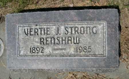 RENSHAW, VERTIE J. - Dawes County, Nebraska | VERTIE J. RENSHAW - Nebraska Gravestone Photos