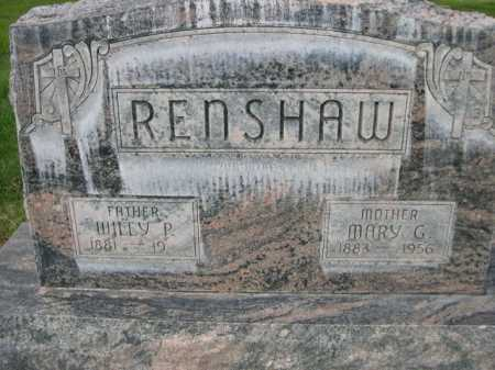 RENSHAW, WILLEY P. - Dawes County, Nebraska | WILLEY P. RENSHAW - Nebraska Gravestone Photos