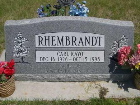 RHEMBRANDT, CARL KAYO - Dawes County, Nebraska | CARL KAYO RHEMBRANDT - Nebraska Gravestone Photos